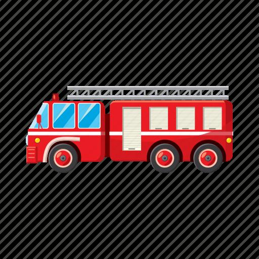 car, cartoon, emergency, engine, fire, truck, vehicle icon