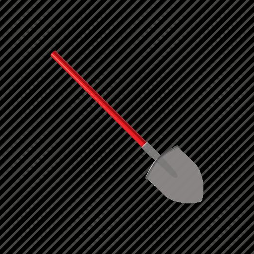 cartoon, equipment, extinguish, protection, responsible, shovel, tool icon