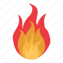 burn, fire, flame, hot icon