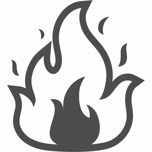 burn, fire, flame, harzard, hot icon