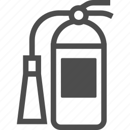 burn, extinguisher, fire, flame, safety icon