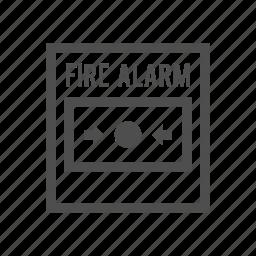alarm, alert, alert button, bell, burn, fire icon