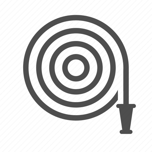 band, fire, hose, hosereel, rubber, water icon