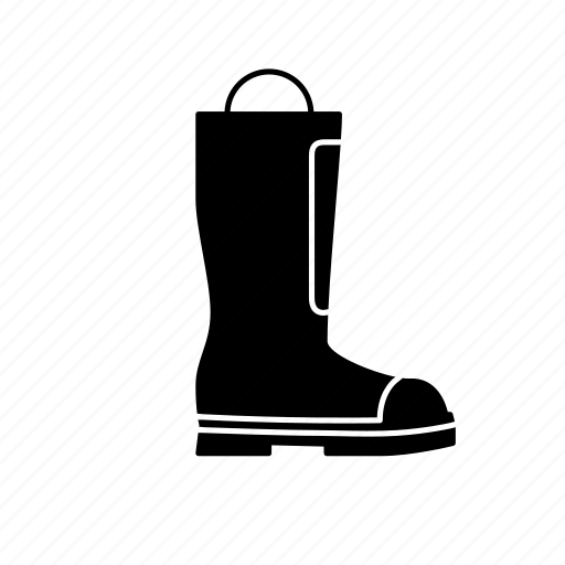 boot, fire fighters boot, fire safety, fire safety gear, foot protection, footwear icon