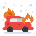 car, fire, firefighter