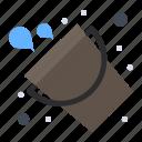bucket, fire, firefighter, tool