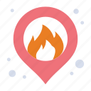 fire, location, map
