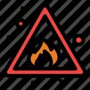 alert, fire, risk, sign