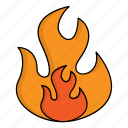 firefighter, flame, fire