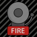 firefighter, bell, fire, alarm