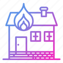 building, fire, firefighter and fire department, house, property icon