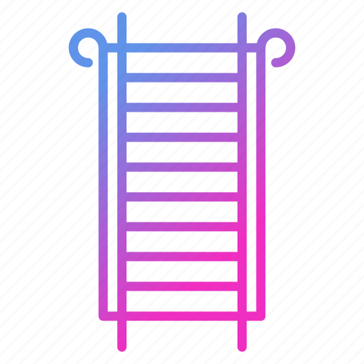 career, firefighter and fire department, ladder, stairs icon