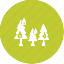 disaster, fire, firefighter, flame, forest, nature, wildfire icon
