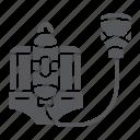 defense, equipment, fire, fireman, gas, helmet, respirator icon