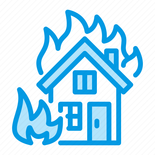 fire, flame, house, insurance icon