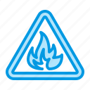 danger, fire, flame, sign icon