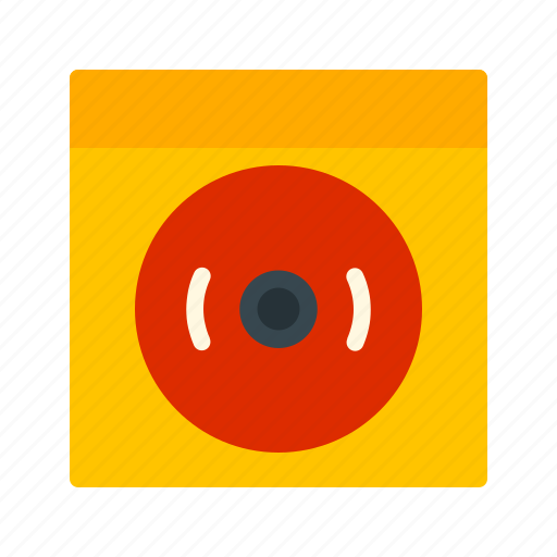 alarm, bell, fire, red, ring, safety, security icon