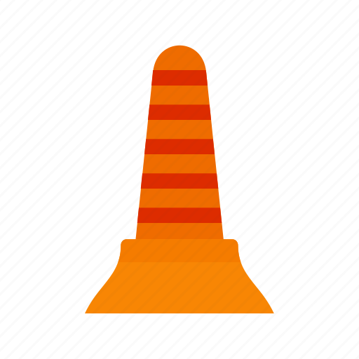 cone, emergency, equipment, fire, red, rescue, work icon