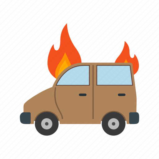 accident, burning, car, danger, extinguisher, fire, flame icon