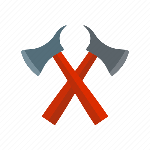 axe, cut, equipment, fire, firefighter, job, service icon