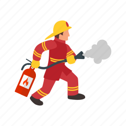 danger, equipment, extinguisher, fire, firefighter, red, safety icon