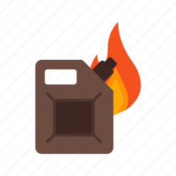 burning, fire, fuel, gasoline, oil, pipe, station icon
