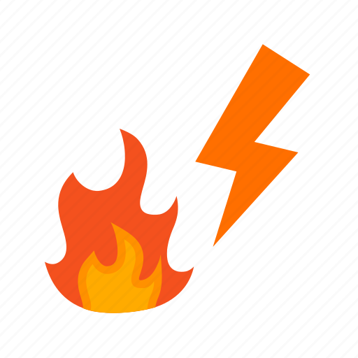 building, burnt, circuit, current, electric, fire, voltage icon