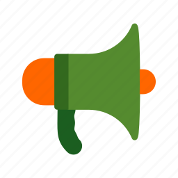 announcement, firefighting, loud, megaphone, public, speaker, warning icon
