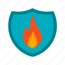 cover, fire, flame, protection, safety, shield, sign