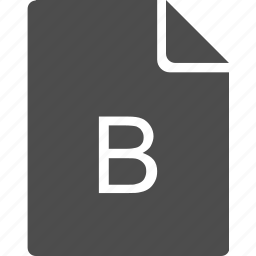 b, doc, document, file, glossary, letter icon