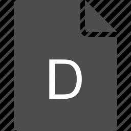 d, doc, document, file, letter icon