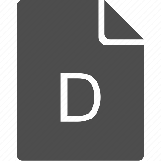 d, doc, document, file, letter icon