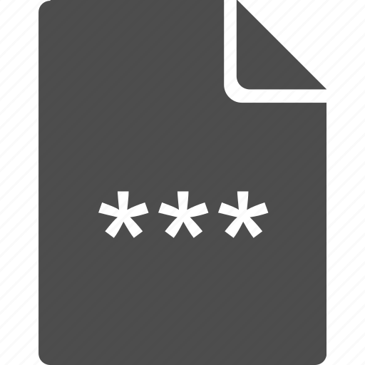 access, code, doc, document, letter, password, pin icon