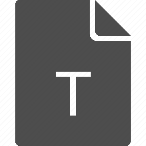 doc, document, file, letter, t icon