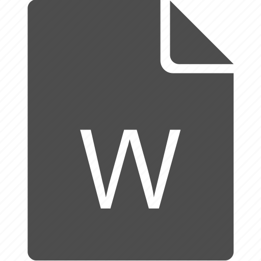 doc, document, file, letter, w icon