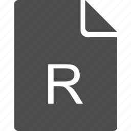 doc, document, file, letter, r icon
