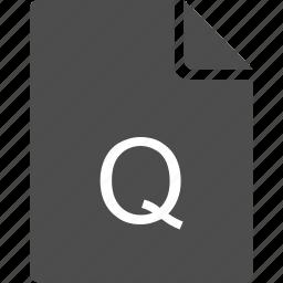 doc, document, file, letter, q icon