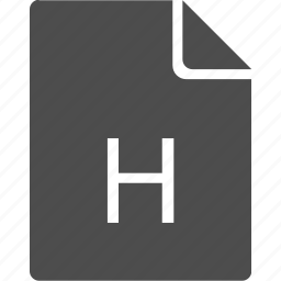 doc, document, file, h, letter icon