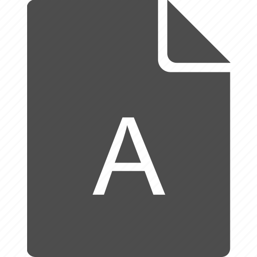 a, file, first, glossary, letter, priority icon