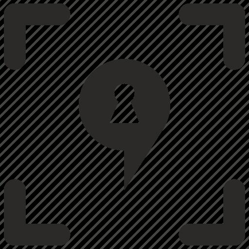 anti, geo, point, pointer, theft icon