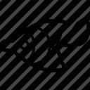 fins, fish, swimming, animal, fishing icon
