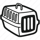 cage, cat, dog, kennel, pet, pet carrier, transport cask icon