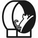 cat, finicky, pet, siamese, track, training apparatus, treadmill icon