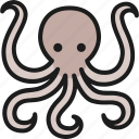 octopus, sea, restaurant, seafood, menu, fish, food