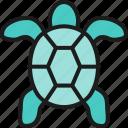 animal, aquatic, fish, food, restaurant, sea, turtle icon