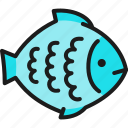 animal, aquatic, fish, flounder, food, restaurant, sea icon