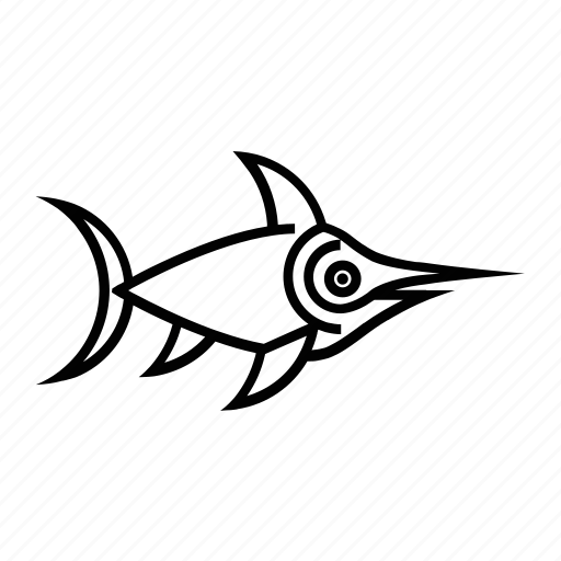 fish, fishie, mediterranean, sea, species, swordfish icon