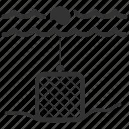 alaska crab trap, cage, crap trap, fish trap, fishery, fishing, trap icon