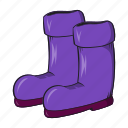 boots, cartoon, gardening, protection, rubber, seasonal, sign icon