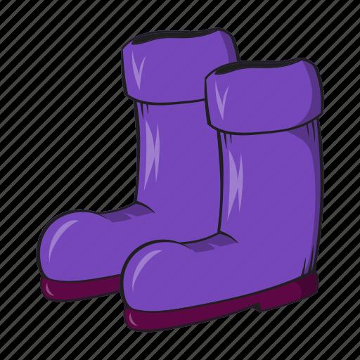 boots, cartoon, gardening, protection, rubber, seasonal, sign icon
